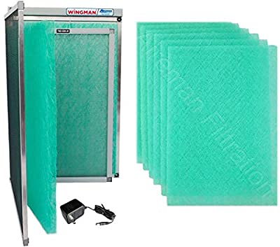 Wingman1 Electronic Air Filter Including Year Supply of Replacement Pads - Homeowner Installed- Simply Replace Your Current AC Furnace Air Filter and PLUG IT IN!