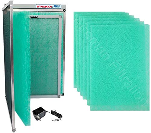20x20x1 Wingman1 Electronic Air Filter Including Year Supply of Replacement Pads - Homeowner Installed- Simply Replace Your Current AC Furnace Air Filter and PLUG IT IN!