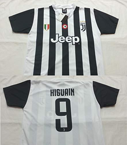 Maglia Calcio Higuain 9 Juventus Replica Autorizzata 2017-2018 bambino (taglie 2 4 6 8 10 12) adulto (S M L XL) (12 anni)