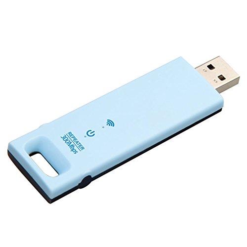 CUHAWUDBA Wd-R602U 300Mbps Extensor De Rango Inalámbrico Repetidor WiFi USB Amplificador Aumentador De Presión De Se?al Azul para Redes