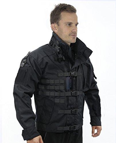 ZAPT 1000D CORDURA US Army Tactical Jacket Military Waterproof Windproof Hard Shell Jackets (Iron Black, XLarge:49-52'')