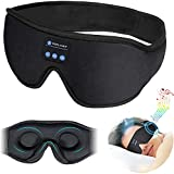 Sleep Headphones,Auto Shutoff 3D Music Eye Mask,Bluetooth 5.0 Wireless,HD Stereo Speakers,12Hrs Playtime,TOPLANET Washable Sleeping Headphones Perfect for Side Sleepers,Insomnia,Meditation,Black