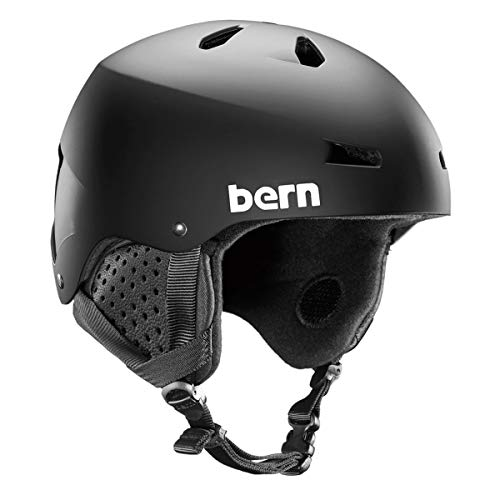 BERN, Winter Macon EPS Snow Helmet, Matte Black with Black Liner, Large