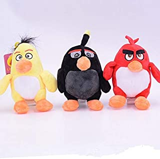 TREGIA 3Pcs/Set Ular Game The Birds with Angry Plush Toys Cute I Animal Stuffed Plush Toys Dolls Child Gift Thing You Must Have Gift Basket Boys Favourite Characters Superhero Party Supplies