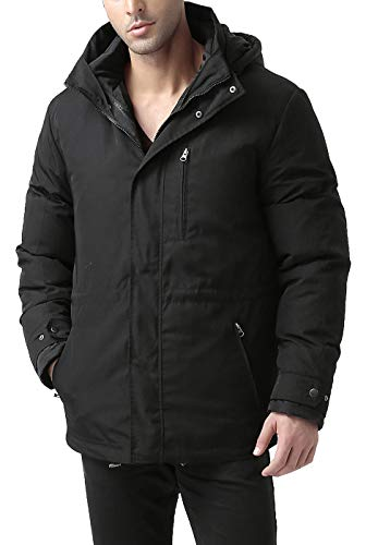 BGSD Men's James 3-in-1 Waterproof Down Parka Coat Black X-Large