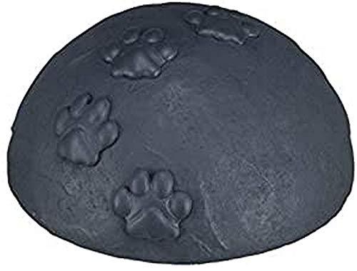 Trixie 38413 Gedenkkuppel mit Pfoten, ø 15 × 8 cm, grau