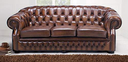 JVmoebel Chesterfield Design Polster Couch Leder Sofa Garnitur Luxus Textil Sofas #135