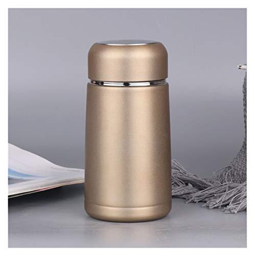 XINGYAO Taza para beber 320 ml, mini frasco de café, termo de acero inoxidable, para bebidas de viaje, botella de agua, termos, tazas y tazas de decoración (capacidad: 320 ml, color: oro)