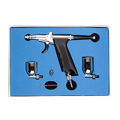 Airbrush Gun, Airbrush Kit Double Action Airbrush Trigger with 0.3mm Needle for Model Paint, Makeup, Hobby, Nail, Cake Decorating