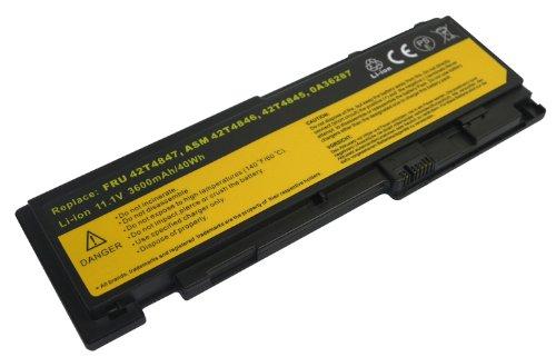 11.1 V 3600 mAh Li-Ion Batterie pour Lenovo ASM 42t4846, FRU 42t4847, 0 A36287