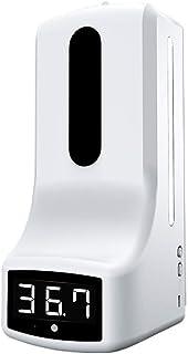 N/A. Thermomètre avec distributeur de savon à main monté au mur, mesure de la température sans contact avec alarme pour bu...