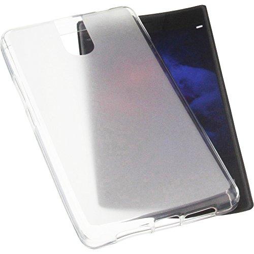 foto-kontor Tasche für Doogee BL7000 Gummi TPU Schutz Handytasche transparent weiß