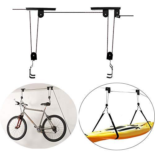 MXBIN Radfahren Fahrrad Hebebühne Deckenmontage Hebezeug Aufbewahrung Garage Fahrradhalter Platzsparend Dach C Werkzeuge zur Reparatur von Ersatzteilen