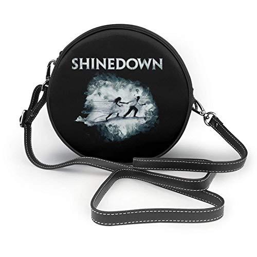 XCNGG bolso del teléfono Shinedown Ladies Fashion Round Crossbody Zipper Shoulder Bag Soft Leather Ring Wallet Mobile Phone Bag Coffee