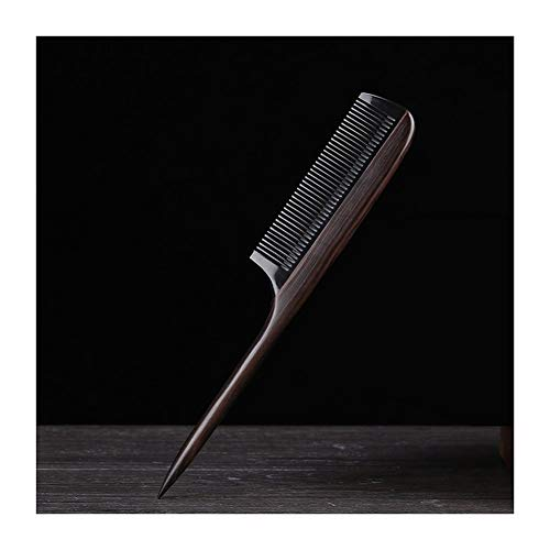 Yaohai Best Styling Comb Household Anti-Static Sandalwood Comb with Handle Hair Style Sharp Tail Comb for Men Women and Girls