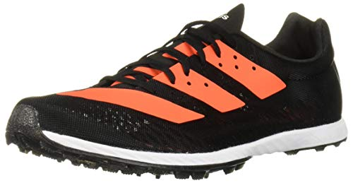adidas Women's Adizero XC Sprint Running Shoe, Black/Solar Orange/White, 6.5 M US