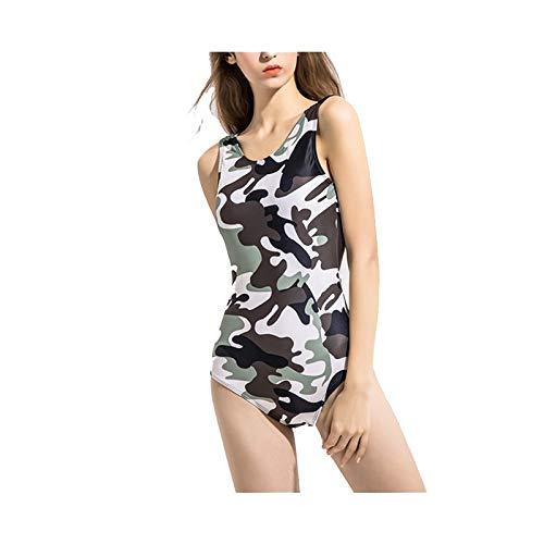 Chengxin Bikinis Europese en Amerikaanse vrouwen badpak Open rug Camouflage buik afslanken sport eendelige bedrukte badpak Bikinis