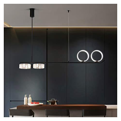 Lámpara Líneas de estar modernas Lámparas colgantes para comedor de dormitorio Lámpara colgante Oficinas y tiendas Black Restaurant Lighting Lightings wall light (Body Color : L 121cm 4heads)