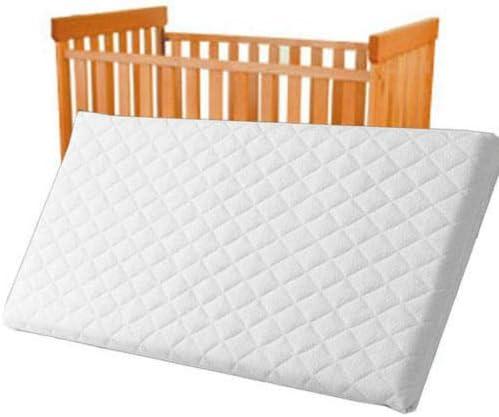 Square Corners Bluemoon Baby Infant COT Swinging Crib Foam Mattress 80 x 43 x 4 cm Water-Resistant