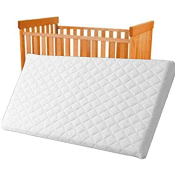 Quilted Breatheable Hypoallergenic Moses Pram Basket Mattress Oval Shaped Waterproof Mattress Size 75 X 28 X 3.5 cm