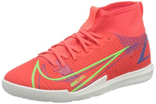 Nike Unisex Mercurial Superfly 8 Academy Ic Fußballschuhe, Bright Crimson Metallic Silver Indigo Burst White Rage Green, 37.5 EU