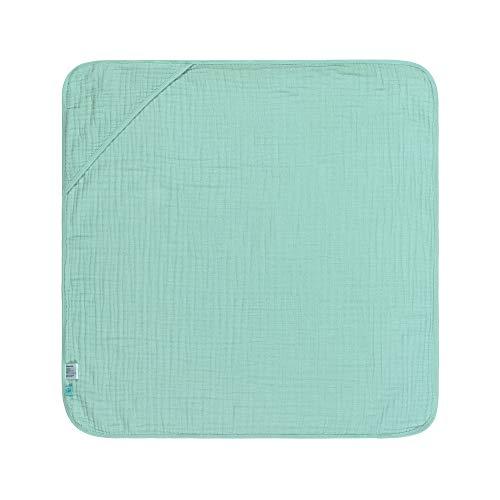 LÄSSIG Kinder Kapuzenhandtuch Baumwolle 90 x 90 cm/Hooded Towel mint