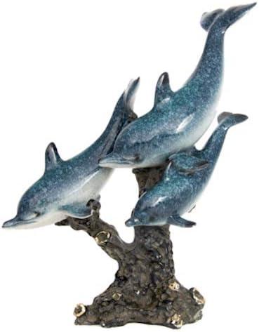 Globe 大人気! Imports Dolphin メーカー在庫限り品 Trio Coastal Figurine Nautical Statue Scul
