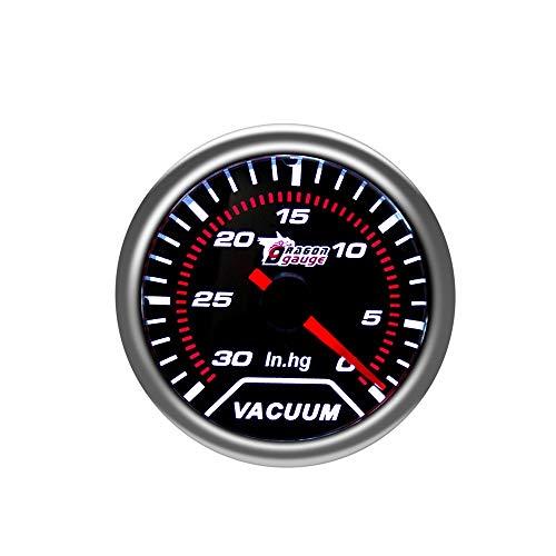 ZYL-IL 2'52 mm tacómetro Aceite de Aire y Combustible Agua Impulso Temperatura del Gas Bar Gauge Libra de Escape de automóvil Prensa hidráulica voltímetro Entrega Directa (Color : Vacuum Gauge)