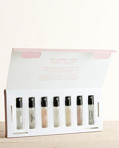 Abercrombie & Fitch Women Fragrance Collection 7 pcs Mini Set includes vials of Fierce For Her, Undone, Perfume No. 1 Original, Perfume 8, First Instinct for Her, Blushed and Ellwood