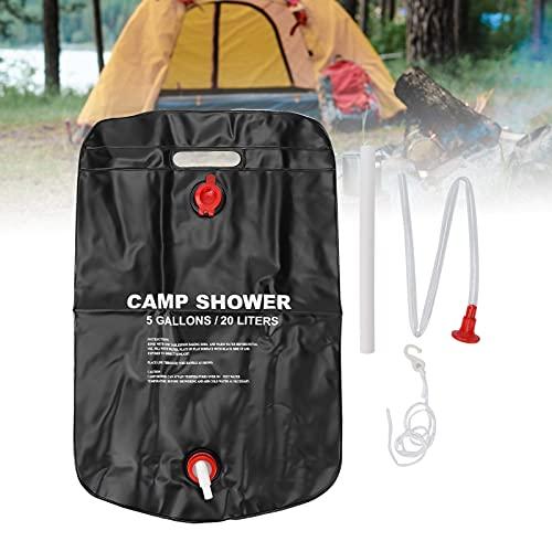 Bolsa de ducha para acampar, calefacción solar Bolsa de ducha para acampar Bolsa de ducha portátil para acampar Bolsa de ducha de PVC para escalada Ducha de verano para playa Natación Al aire libre Vi