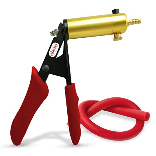 LeLuv Ultima Red Silicone Grips Vacuum Pump Handle with Red Silicone Hose