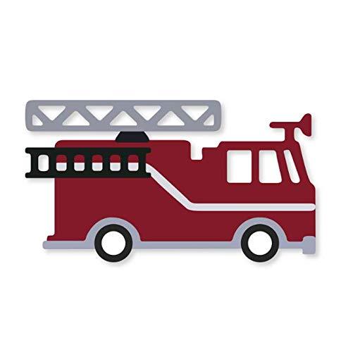 Schneidform Feuerwehrauto Metall Stanzformen Scrapbooking Handwerk Stanzformen Schnitte Dünne Papierkunst Prägekarte Machen Schablone 85 * 67 Mm