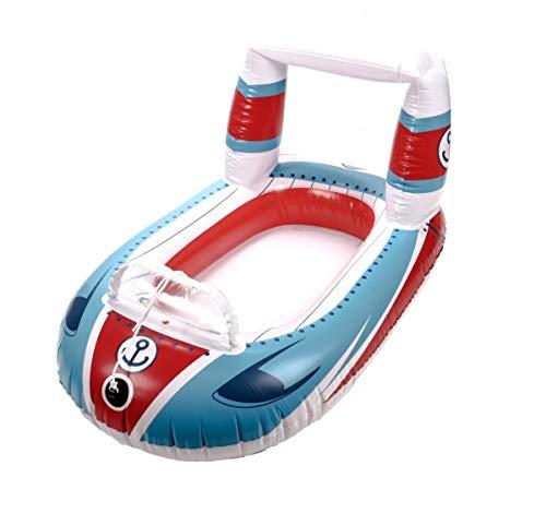Bestway! Mini bote inflable para niños, válvula de seguridad, longitud aprox. 104 cm, diseño deslizador espacial (barco motor)