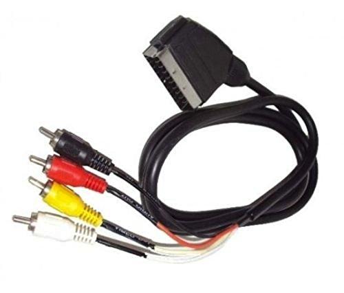 Cable Scart 21pin con 4RCA Audio y vídeo RGB decodificador Monitor TV–Adaptador euroconector/4RCA