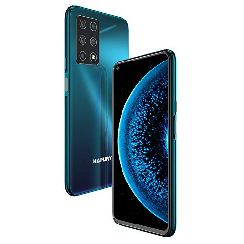 HAFURY GT20 Smartphone ohne vertrag Android 10 Handy mit 8GB + 256GB, 6.4 Zoll FHD Punch Hole Display, AI Fünf Kamera, 4200mAh Akuu, Schnellladen, Global Version, Glasrückseite-Twilight
