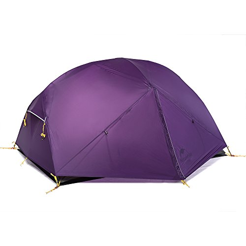Naturehike Mongar Tienda de campaña de mochilero Ligero 2 Personas para el Excursionismo, el Senderismo y el Camping (Púrpura)