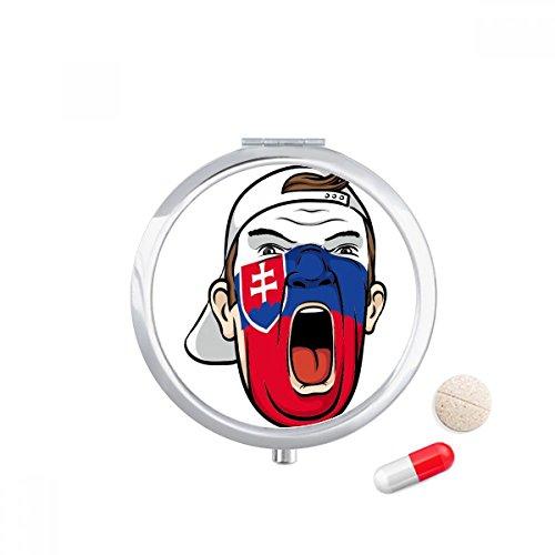 DIYthinker Slowakije Vlag Facial Schilderen Make-up Cap Reizen Pocket Pill case Medicine Drug Storage Box Dispenser Spiegel Gift