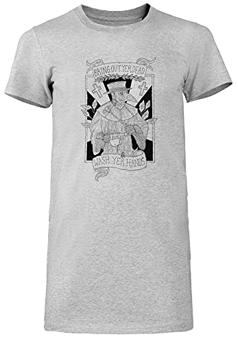 Bring out Yer Dead Camiseta Mujer Largo Vestir Gris T-Shirt Women
