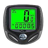 Newin Star Despertador de la Bicicleta Velocímetro y cuentakilómetros inalámbrico de Ciclo Impermeable del Ordenador LCD de retroiluminación automática y Multi-Funciones