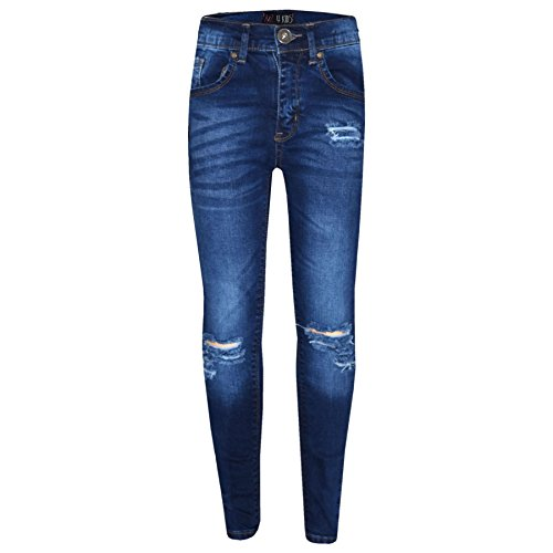 A2Z 4 Kids® Mädchen Dehnbar Jeans Kinder - Girls Jeans Ripped Blue 9-10