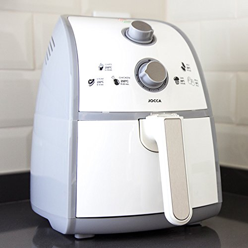 Jocca 5529 Freidora Sin Aceite Friteuse sans Huile/ 4 Litre de capacité et dépôt extraible, 1500 W, 2.5 liters, Gris