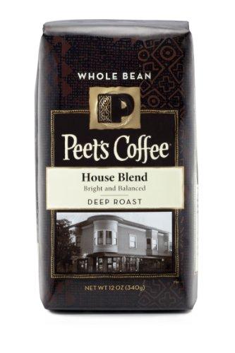 Peet's Coffee House Blend, Deep Roast Whole Bean, Bright, Lively, & Balanced Dark Roast Blend of Latin American Coffees, 12 oz