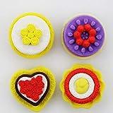 3DStudent Cake Eraser Flower Eraser Set School Eraser 24 juegos por lote con regalos gratis