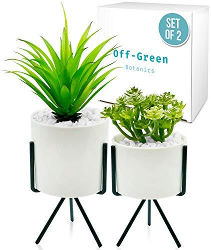 Plantas artificiales de aspecto realista, plantas falsas texturizadas para decoración del hogar, oficina, bonitas plantas artificiales...