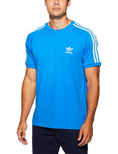 adidas Herren 3-Stripes T-Shirt, Bluebird, M