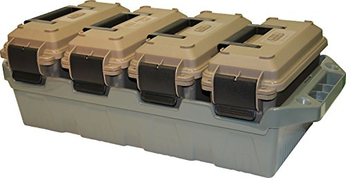 MTM AC4C Ammo Crate (4-Can) Brown, 30 caliber