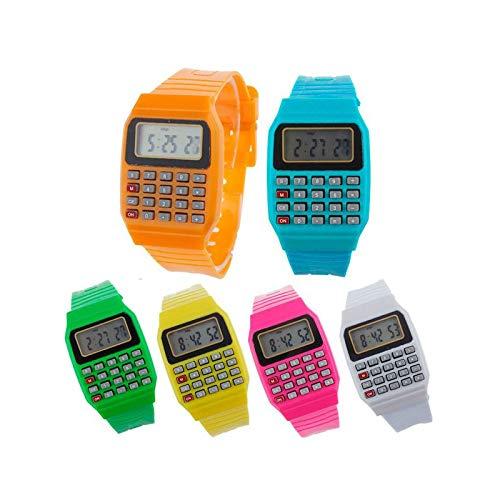 Lote de 10 Relojes Calculadoras - Relojes Infantiles para Niños. Regalos de...
