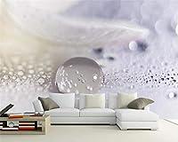 カスタム壁紙3D写真壁画水滴クローズアップ微視的水滴テクスチャ風景壁画3D壁紙,350(W)*256(H)cm
