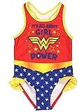 Warner Bros. ragazze Wonder Woman Costume da bagno costume da bagno 2T Rosso/Multi