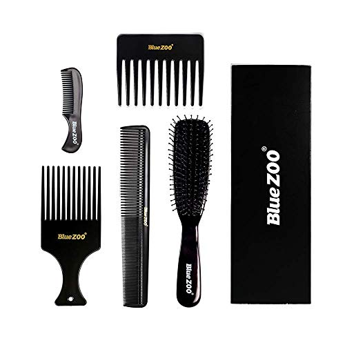 Styling Comb Set, Anself 5pcs Plastic Barber Combs Hair Brushes Cutting Styling Combs Kit for Salon Hairdressing Hair Care Tools Variety Pack